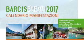 Calendario appuntamenti Barcis 2017
