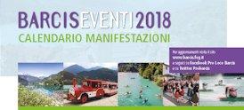 Calendario appuntamenti Barcis 2018